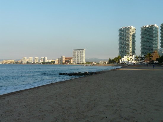 Friendly Vallarta All Inclusive Family Resort: View north from the beach (a bit north of the hotel)