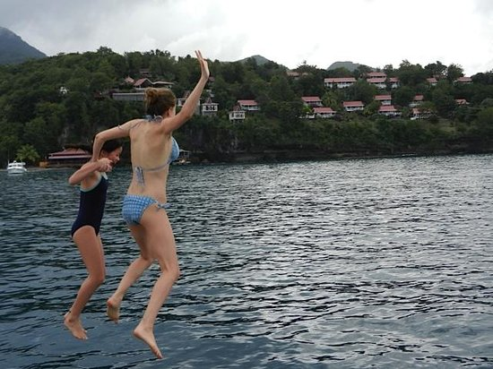 St Lucia Fishing and Boat Tour Charters: Enjoying our excursion