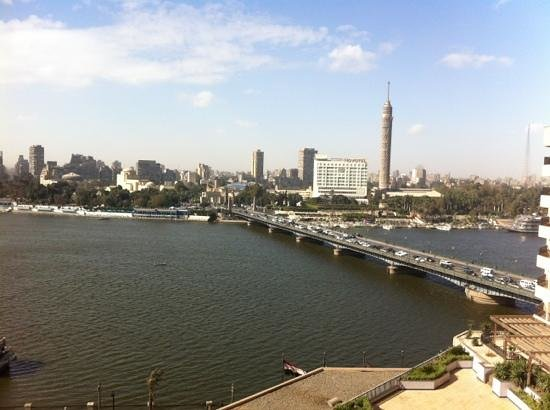 InterContinental Cairo Semiramis: view from my room on the 9 floor;