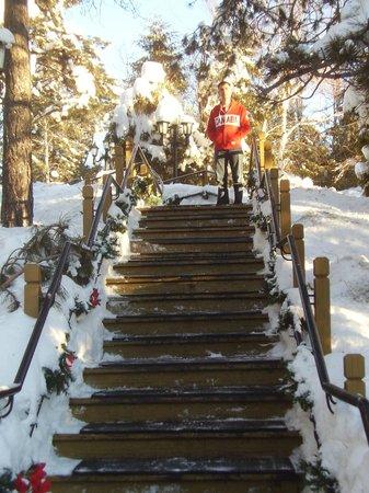 أوتل لو شانت كلير: stairs 