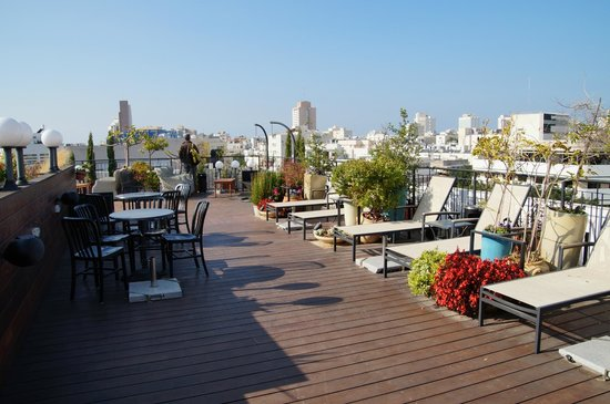 ‪‪Center Chic Hotel Tel Aviv - an Atlas Boutique Hotel‬: Terrasse