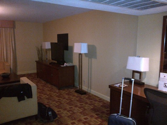DoubleTree DFW Airport North: Work area and sitting area