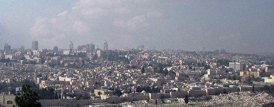 Mount of Olives Hotel : Old Jerusalem from hotel window