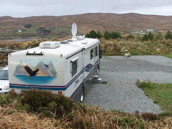 Clifden Camping and Caravan Park:                   'On pitch at Shanakeever'