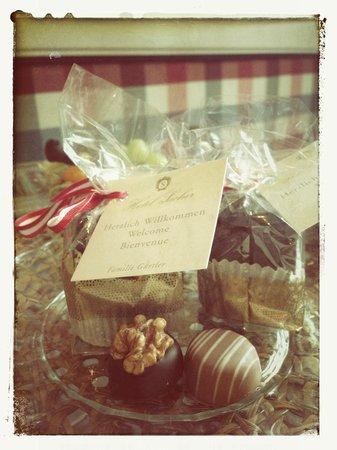 Hotel Sacher Salzburg: Welcome Chocolates