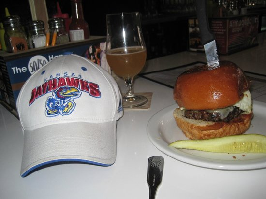 Slater's 50/50: 50 / 50 burger