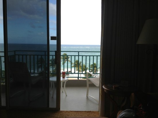 San Juan Marriott Resort & Stellaris Casino: view from the bed