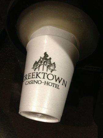 Greektown Casino: Greektown logo on cup
