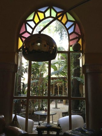 Riad Malika: wonderful view from one of the dining rooms...