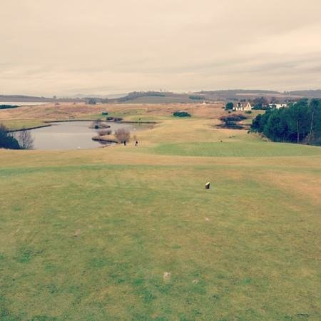 Drumoig, UK: 9th tee.