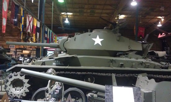 U.S. Veterans Memorial Museum : One of the many tanks they have