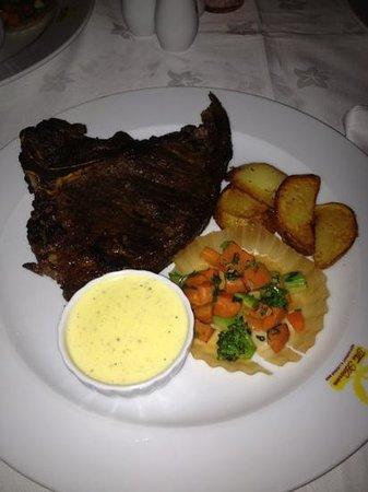 The Heaven Restaurant: T-bone with homemade potatoes