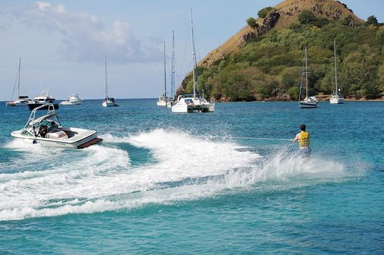 Sandals Grande St. Lucian Spa & Beach Resort: They had motorized water sports!