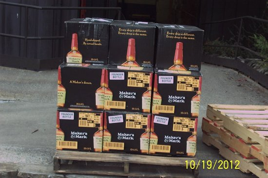 Maker's Mark: Waiting to be loaded and taken to market.