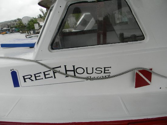 Reef House Resort: dive boat