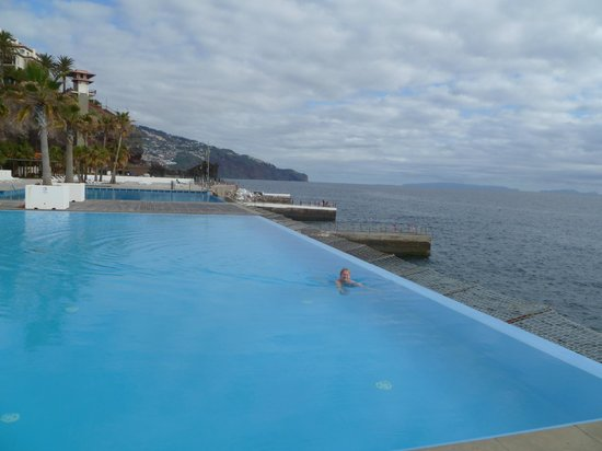 Vidamar Resort Madeira: One of the Two Infinity Pools by the Atlantic Ocean