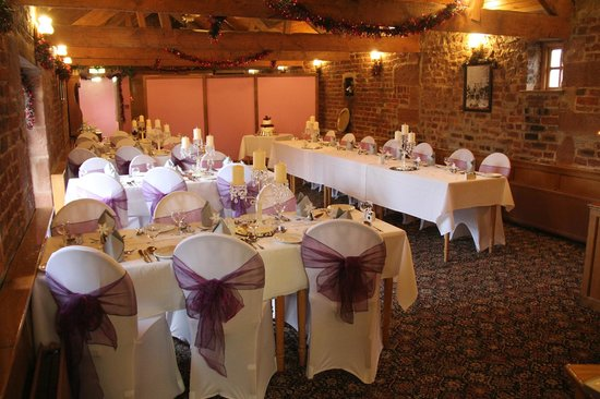 The Mill Forge: The upstairs room ready for our reception