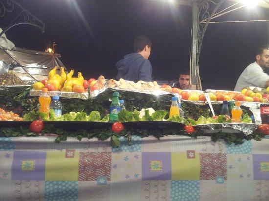 food stool at the square at night