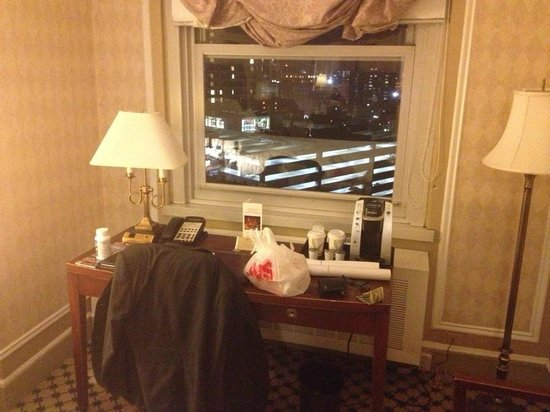 Boston Park Plaza: Room window