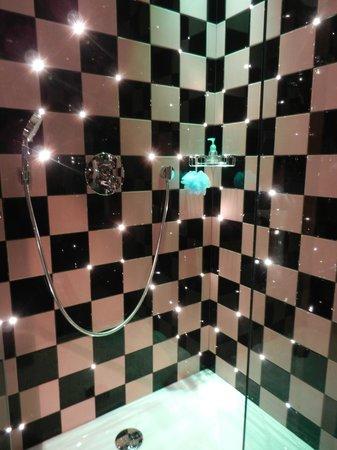Platine Hotel: Douche étoilée