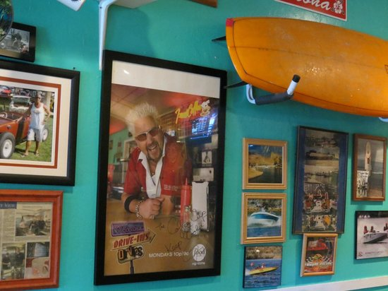 Coffee Cup: Photos, caricatures and collections of vintage water skis are a feast for your eyes...