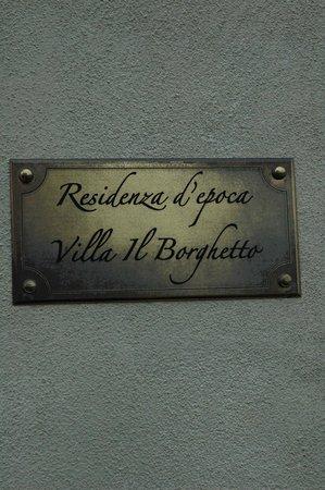 Villa il Borghetto: targa