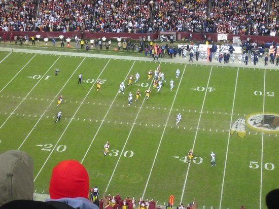 FedExField: Action as seen from our seats