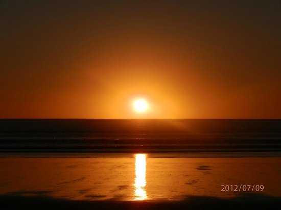 Ahipara Holiday Park: 90 mile beach sunset