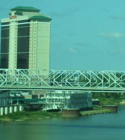 Shreveport, LA: Sams Town Casino Boat from across the River