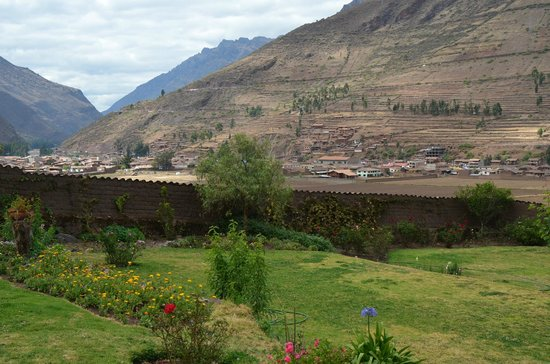 City in background is Pisac, as seen from La Casa Del Conde