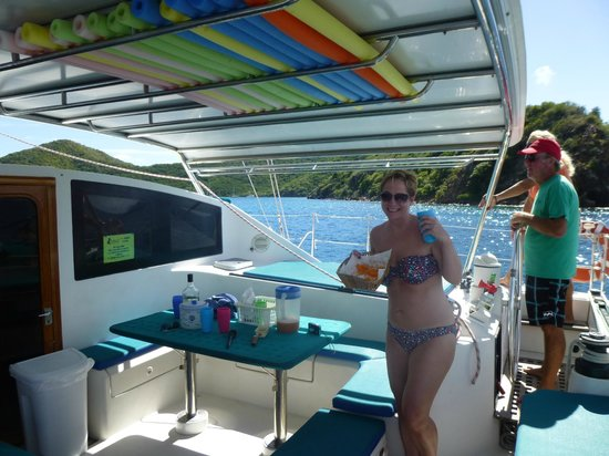 Aristocat Charters: Sampling the crisps and punch, would b rude not too!