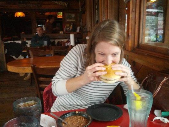 Williamson Brothers Bar-B-Q: Big Ol' Pulled Pulled Pork Sandwich