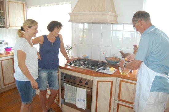 Brenton Beach House: Omelettkochkurs für Gäste