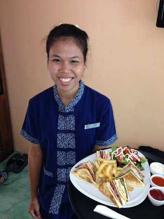 CC's Hideaway: Poon delivered a Club Sandwich to our room