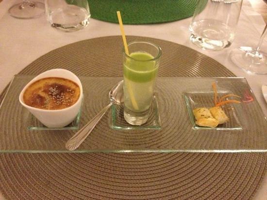 La Sosta Restaurant: crème brûlée camembert