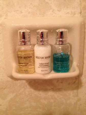 The Jefferson Hotel: Molton and Brown products - very nice!
