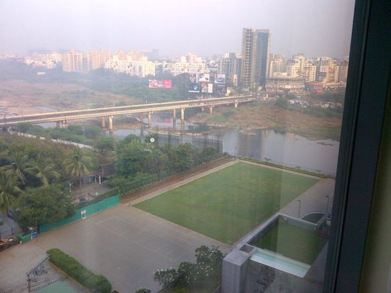 The Westin Pune Koregaon Park: View of river & hotel grounds from my hotel room
