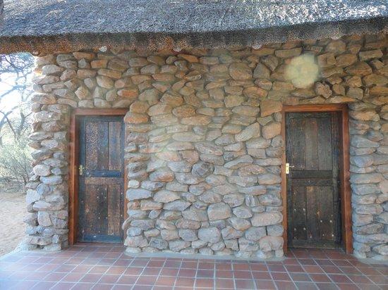 Witsand Nature Reserve: badkamer en toilet (bruiten)