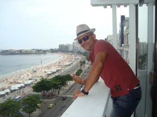 Rio Othon Palace Hotel: Da sacada do apartamento do hotel Othon.