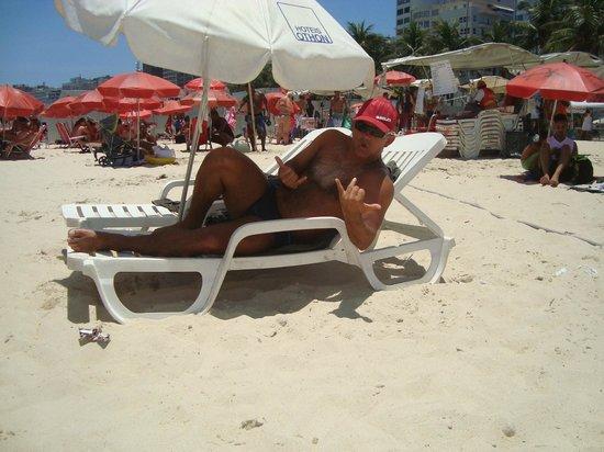 Rio Othon Palace Hotel: Na praia de Copacabana.