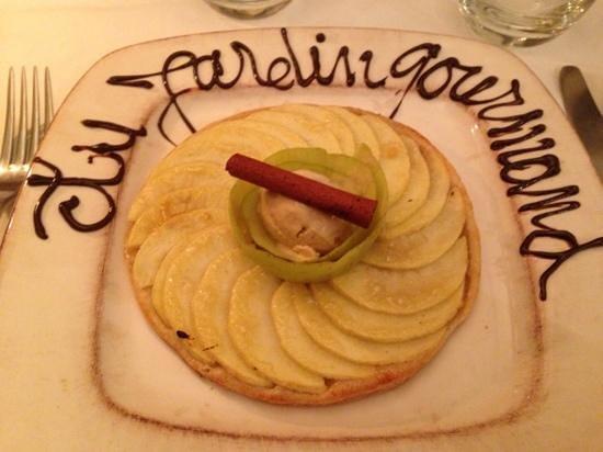 Au Jardin Gourmand : tarte fine aux pommes cannelle