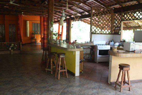 Casa Moabi: le coin cuisine de la casa