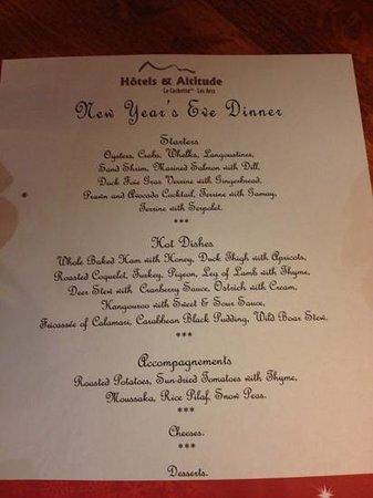 La Cachette Hotel: menu