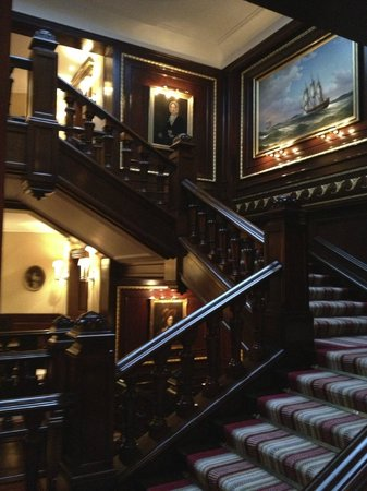 The Connaught: The grand staircase..