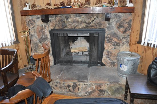 Big Bear Cozy Cabins : Fire Place