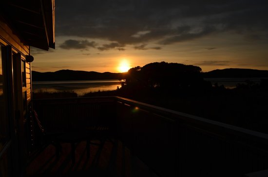 Waikava Harbour View: Sunrise from the deck