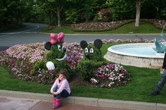 Disneyland Hotel: Jardines