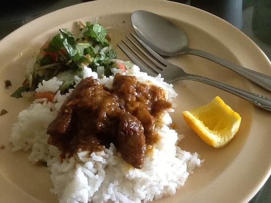 Yoma: goat curry and pennyworth salad