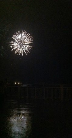 The Reach, A Waldorf Astoria Resort: Fourth of July fireworks..