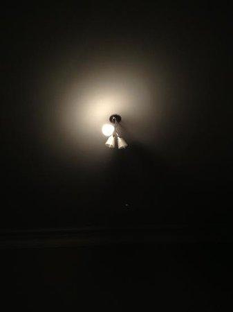 Shirley Hotel: 壞了兩個燈泡的燈具
